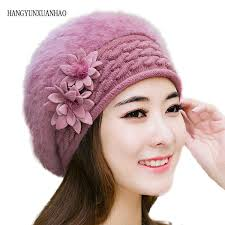 2019 <b>HANGYUNXUANHAO</b> Female Elegance Fur Knitted Berets ...