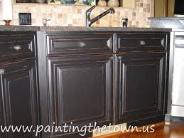 kitchens with black distressed cabinets. Painted Kitchen Cabinets Mediterranean-kitchen Kitchens With Black Distressed T