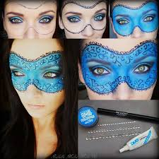 get masquerade makeup and the mask in a snap this easy pictorial will show you