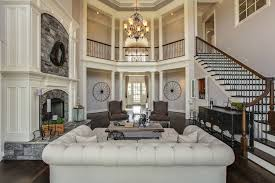 Traditional Living Room with Balcony, Chandelier, Columns, Restoration  hardware the petite kensington collection