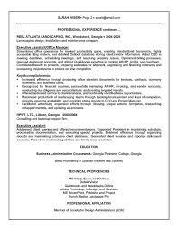Secretary Resume Templates Classy Executive Secretary Resume 48 48 Assistant Example Sample