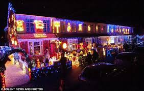 new house lighting. A Spectacular Christmas Lighting Display In New Milton, Hants, Attracted 2,000 Excited Locals To House