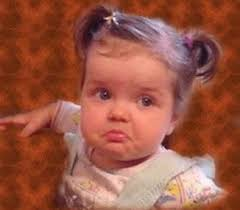 cute baby feeling sad and going to cry picture