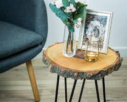round side table wood end table for