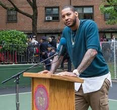 carmelo anthony house basketball court. Fine Carmelo Carmelo Anthony Foundation Basketball Court Dedication At NYCHAu0027s James  Monroe Houses In The Bronx  By To House