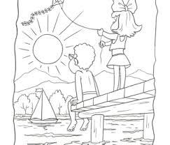 Kolorowanki do druku bezpieczne wakacje. Kolorowanki Lato Wakacje Malowanki Online Pory Roku Do Pobrania