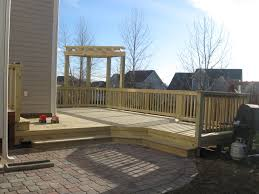 wood deck wood decking over pavers for hot tubs cost of wood deck vs pavers pavers with cost to build a wood deck