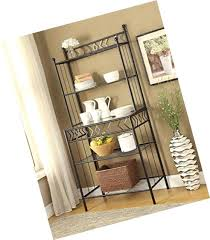 kitchen bakers rack 5 tier black metal glass shelves kitchen bakers rack wine bottle french kitchen bakers rack