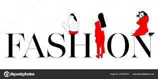 Word Models Poster Fashion Word Female Models Stock Vector