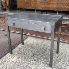 simmons modern furniture metal side table 2. art deco brushed steel vanity writing desk by simmons norman bel geddes 2 modern furniture metal side table s