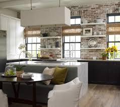 Brick Backsplash Kitchen Kitchen Design Faux Brick Backsplash In Kitchen With Additional