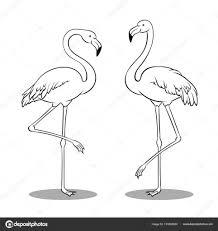 Kleurplaat Flamingo In Kleurplaten Dieren Flamingo Kleurplaat Vor