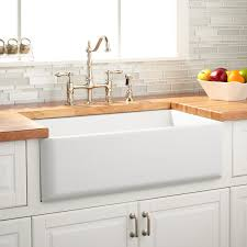 nice 33 inch farmhouse sink 1 454491 reversible white curved front