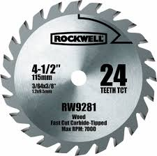 carbide tipped saw blades. rockwell rw9281 4 1/2-inch 24t carbide tipped compact circular saw blade - amazon.com blades