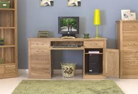 mobel oak twin pedestal computer desk 1 baumhaus mobel oak twin
