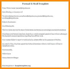 Adapted From Com First Writing Emails A Formal Email Sample