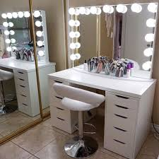 white makeup vanity with lights. 23+ diy makeup room ideas, organizer, storage and decorating. vanity desk roomwhite white with lights