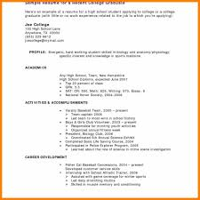 8 College Student Sample Resume Hr Cover Letter