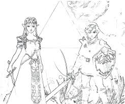 The Legend Of Zelda Coloring Pages Link Coloring Pages Free