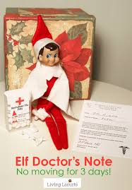 Flu Doctors Note Elf Doctors Note Funny Elf Idea For Parents Living Locurto