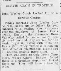 John Wesley Curtis Getting 13 year old drunk - Newspapers.com