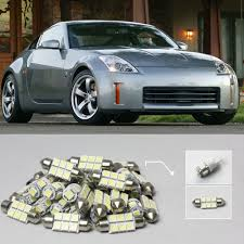 Free Shipping 6x White Led Lights Interior Package Kit For