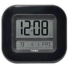timex wall clock atomic digital time temp date wall clock