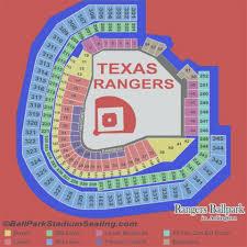 Rangers Stadium Seating Chart Texas Rangers Stadium Seating Plan Rangers Seating Map