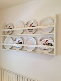 plate rack plate holder wall mounted plate shelf by foofoolalachild on s