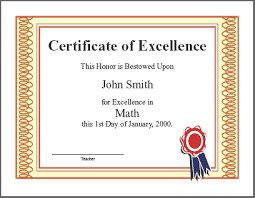 Award Of Excellence Certificate Template Excellence Award Certificate Adecs Certificates 26