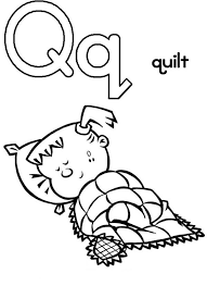 Small Picture Capital Letter Q for Quilt Coloring Page for Preschool Kids Bulk