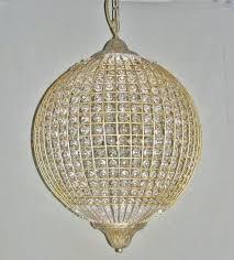 gold globe chandelier 5 light