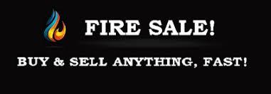Fire Sale website logo on black background