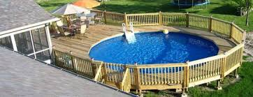 above ground pool with deck surround. Grab Surround Above Ground Pool Deck Design Picture With Y