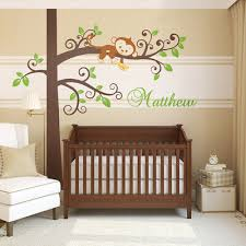 monkey tree wall decal personalized