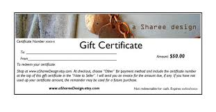 How To Make A Gift Certificate Etsy Gift Certificate Guide 3 Methods Handmadeology