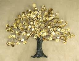 wall art sculptures huge modern tree sculpture wall art decor hanging for living room brass metal