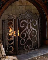 ambella scroll fireplace screen home decor indoor decorations a three panel fire
