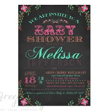 Baby Shower Invitation Shabby Chic Baby Girl Shower