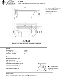 clawfoot tub dimensions. Clawfoot Tub Dimensions E