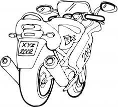 Vista Posteriore Di Una Moto Da Gran Premio Moto Gp Disegno Da