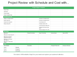 schedule milestones project review with schedule and cost with milestones and