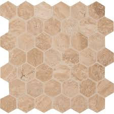 caramello hexagon 12 in x 12 in x 10 mm honed