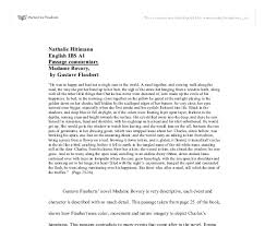 passage commentary madame bovary by gustave flaubert a level  document image preview