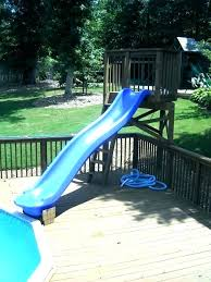 Outdoor pool with slide Above Ground Homemade Pool Slide Above Ground Pool Slide Swimming Slides For Pools Homemade Sale With In In Ground Pool Summit Swimming Pool Slides Homemade Pool Water Penguin Pools Homemade Pool Slide Above Ground Pool Slide Swimming Slides For