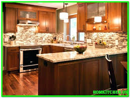 backsplash with black countertop kitchen