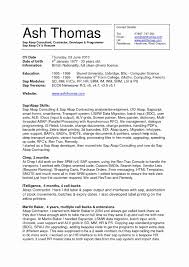 Sap Contract Management Fresh 1 Year Experience Resume Format For