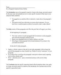 of essay outlines analytical essay example