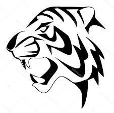 easy tiger pencil drawing. Wonderful Pencil Black And White Drawing Of A Tiger Side Face Sketch Easy  Inside Pencil P