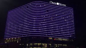 Downtown Dallas Purple Lights Downtown Dallas Was Lit Purple In Preparation For New